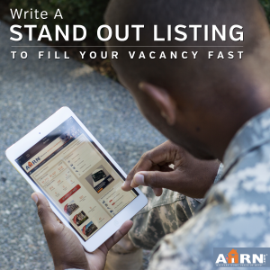 Write A Stand Out Listing To Fille Your Vacancy Fast with AHRN.com
