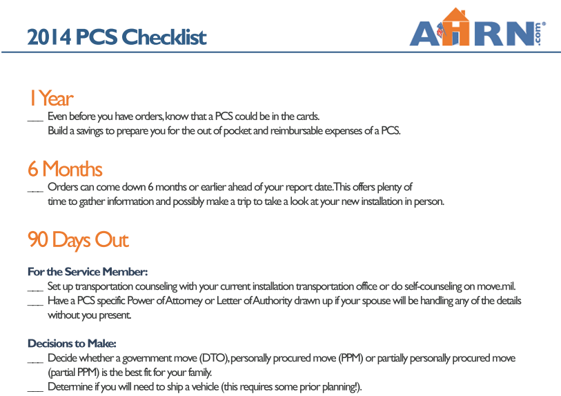AHRN.com PCS Essentials Checklist SC
