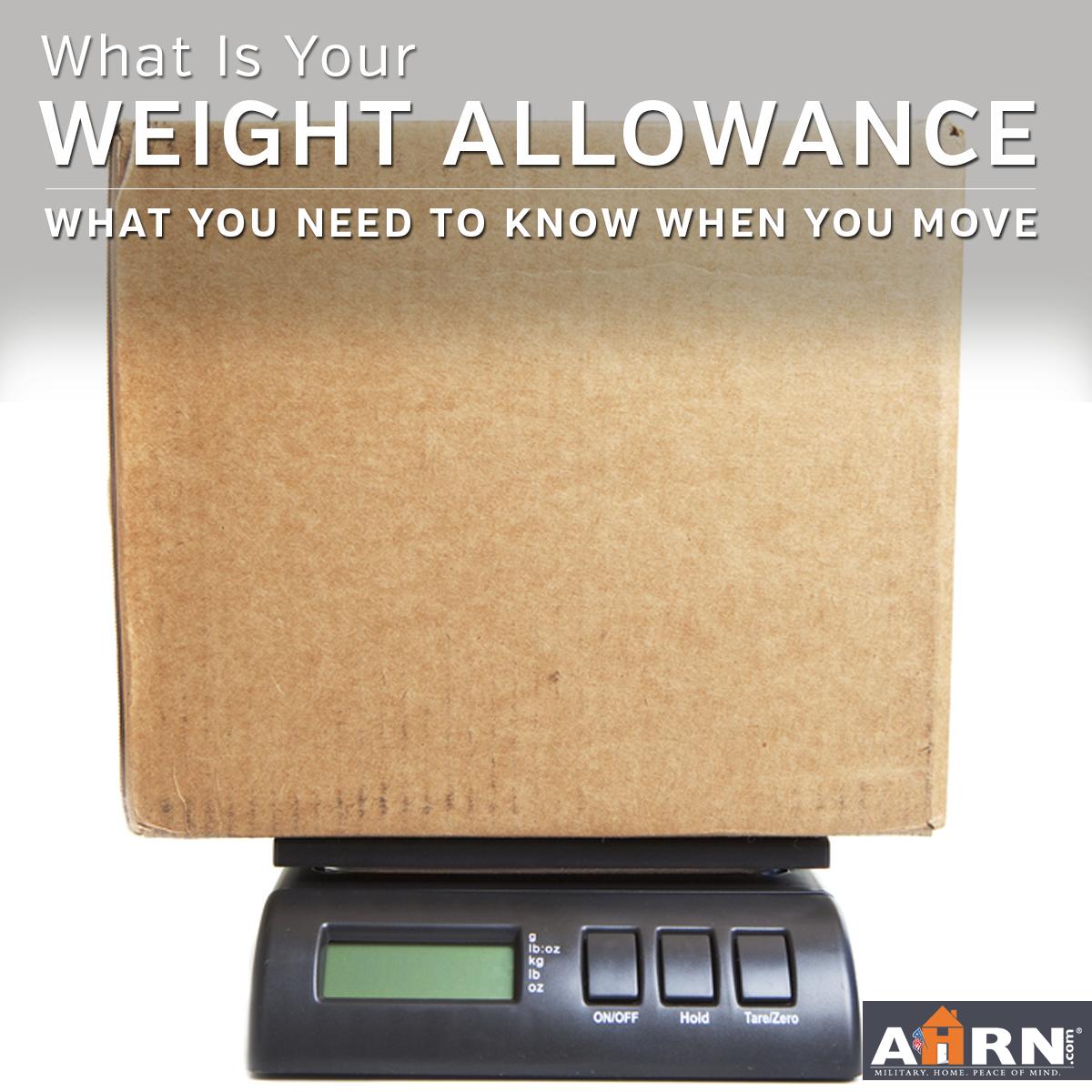 What Is PCS Weight Allowance? | AHRN com