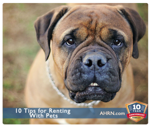 10 Tips For Renting With Pets with AHRN.com