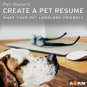 Create a pet resume - make your pet landlord friendly with AHRN.com