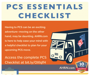 Infographic PCS Essentials Checklist from AHRN.com