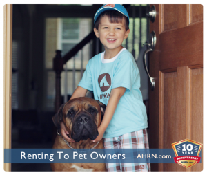 Renting to Pet Owners with AHRN.com