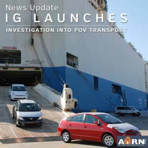 News: Pentagon IG Launches Investigation Into POV Shipment Contract on AHRN.com