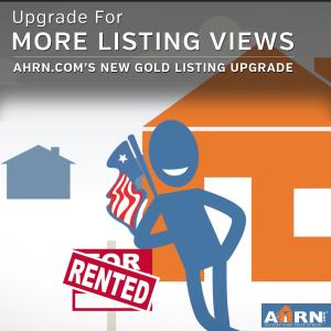 Get more listing views with AHRN.com's Gold Upgrade!