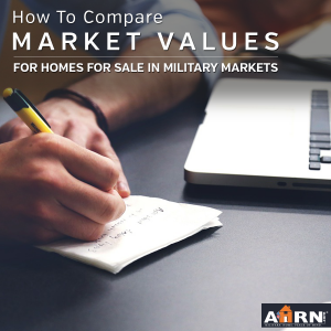 How to compare market values for your home for sale in military markets with AHRN.com