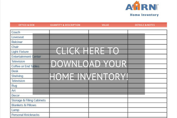 Free, downloadable 2015 AHRN.com Home Inventory