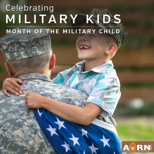 Celebrating military kids during the month of the military child on AHRN.com