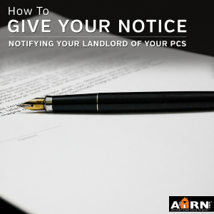 Notifiying Your Landlord Of Your PCS with AHRN.com