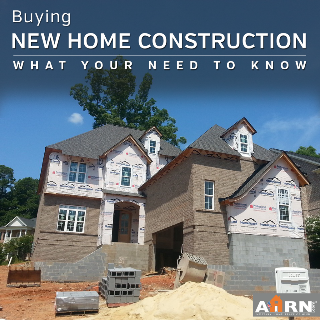 What You Need To Know When Buying New Home Construction