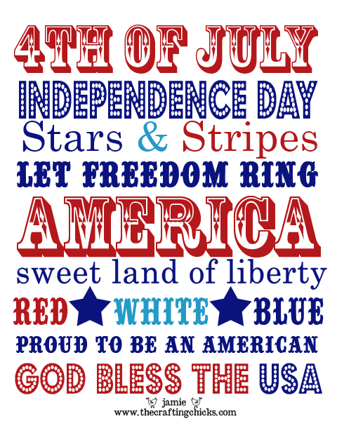 July 4th inspired recipes, crafts and decor from AHRN.com