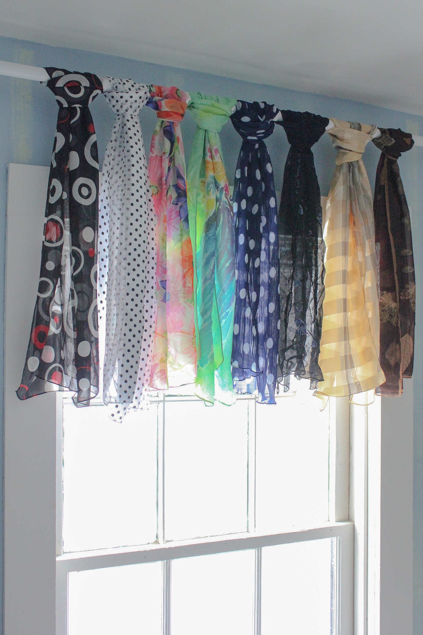 ideas valance treatments vista design sheer inch scarf window