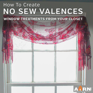 No Sew Window Treatments from your closet with AHRN.com
