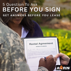 5 Questions To Ask Before You Sign Your Lease with AHRN.com
