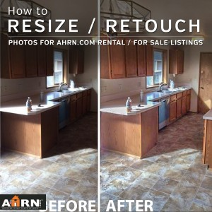 Resize and Retouch to Import the Best Photos into AHRN.com