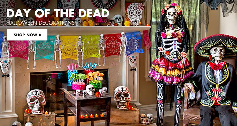 halloween day of the dead decorations - passeiorama