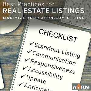 Best Practices for Real Estate Listings with AHRN.com