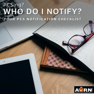 Who do you notify when you are PCSing with AHRN.com
