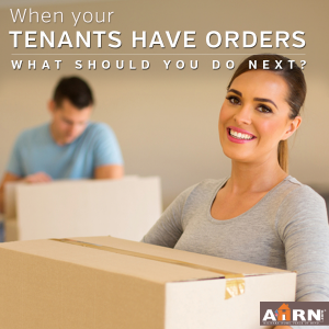 What to do when your tenants have orders with AHRN.com