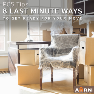 8 last minute ways to prepare for your PCS move with AHRN.com