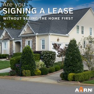 Signing A Lease Without Seeing The Home