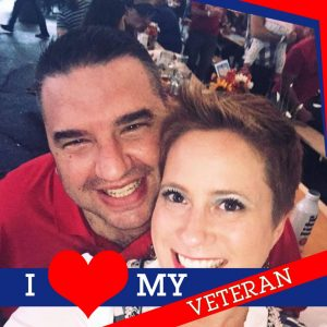 Military veteran enjoying time with her husband