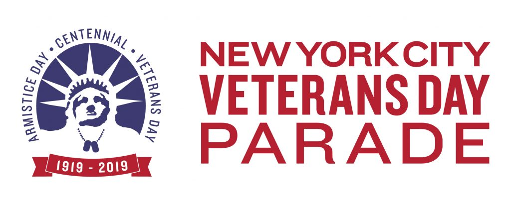 Logo for the United War Veterans Council's 2019 New York City Veterans Day Parade