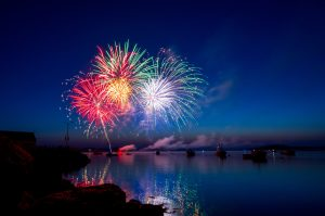 New Years Eve fireworks at the beach, Photo by Ray Hennessy on Unsplash