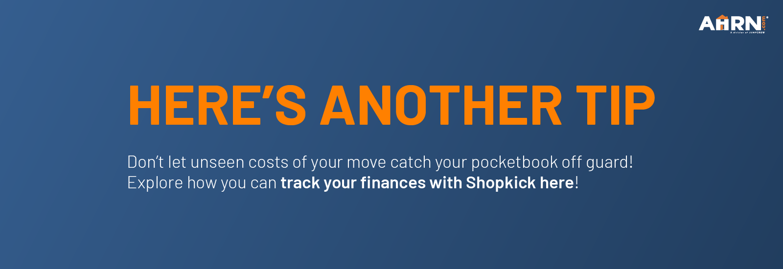 Don't let unseen costs of your move catch your pocketbook off guard! Explore how you can track your finances with Shopkick here!