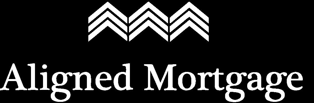 Aligned Mortgage Logo White