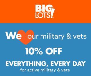 Military Appreciation Month - Big Lots