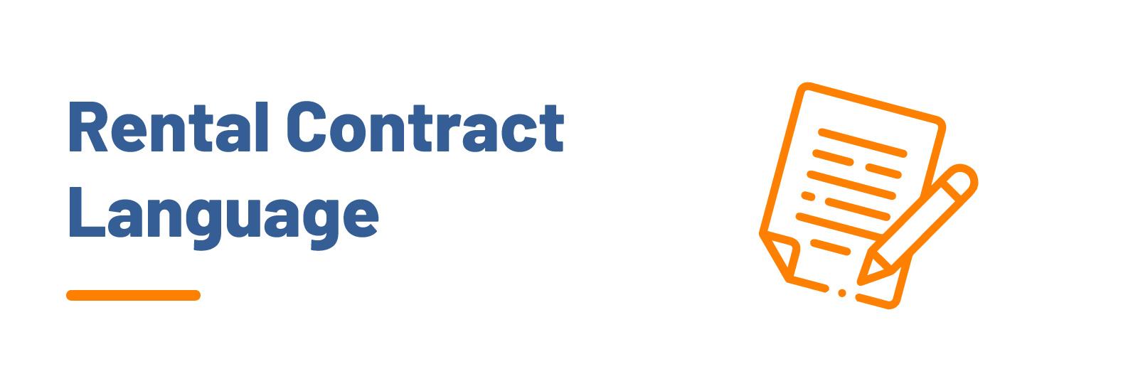 Rental Contract Language